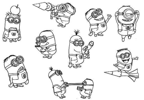 minion coloring pages with names photo22 - Minion Pictures To Colour