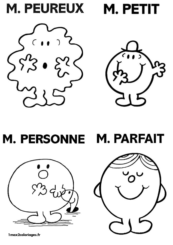 Coloriage monsieur madame les beaux dessins de dessin - Coloriage mr mme ...