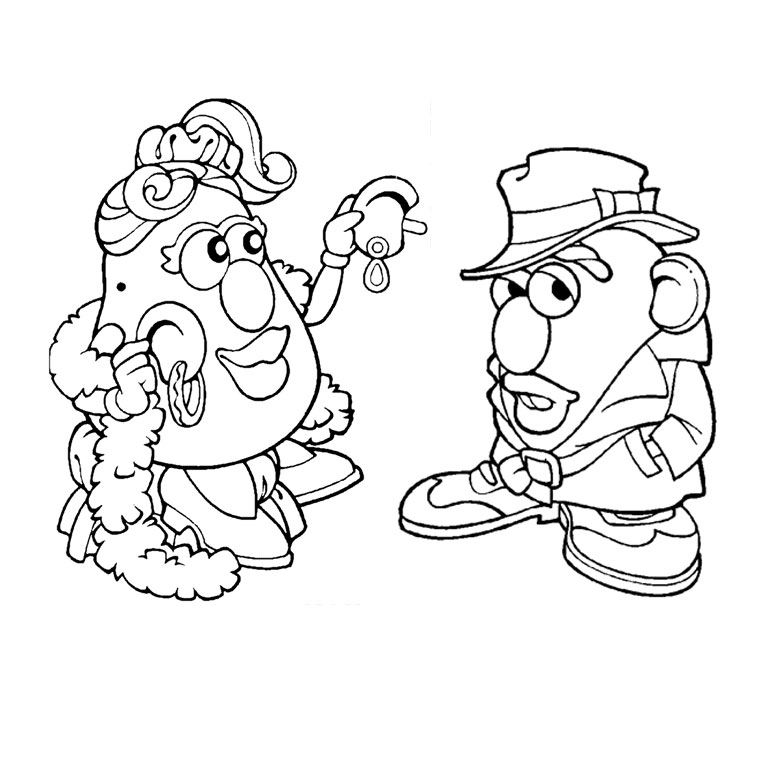 Coloriage monsieur patate les beaux dessins de dessin - Mr patate dessin ...