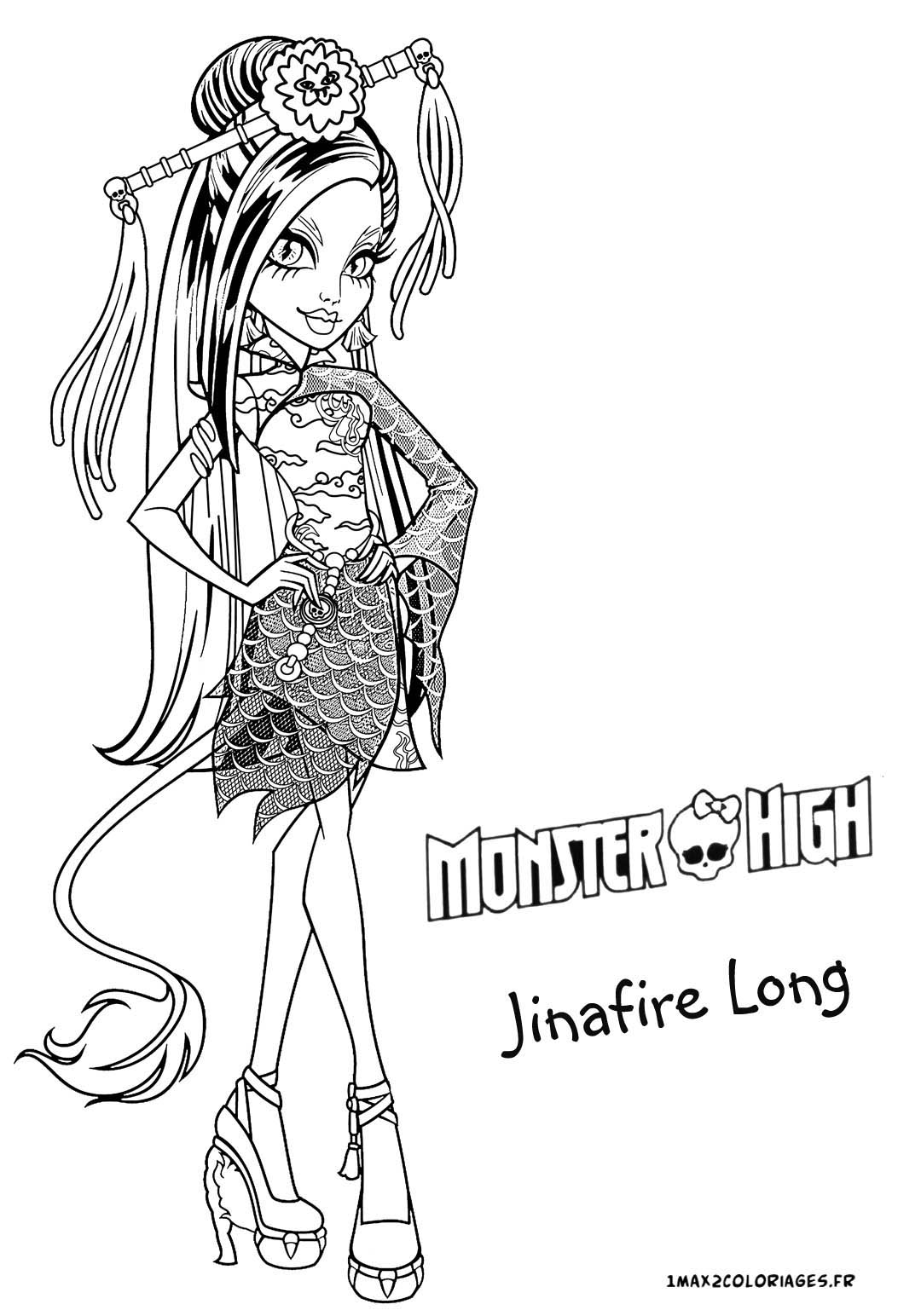 coloriage de monsterhigh with coloriage de monster high