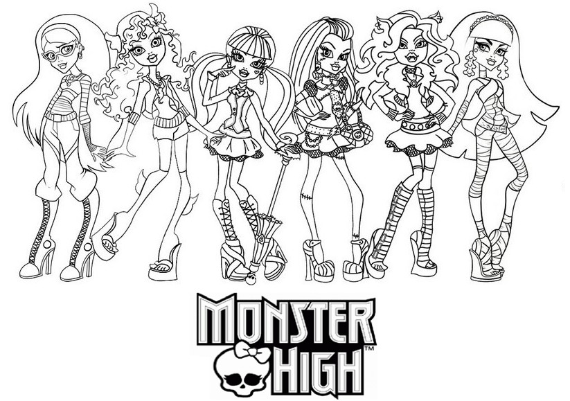 Coloriage monster high les beaux dessins de dessin anim - Dessins de monster high ...
