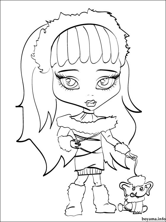 Coloriage Monster High Les Beaux Dessins De Dessin Animé à