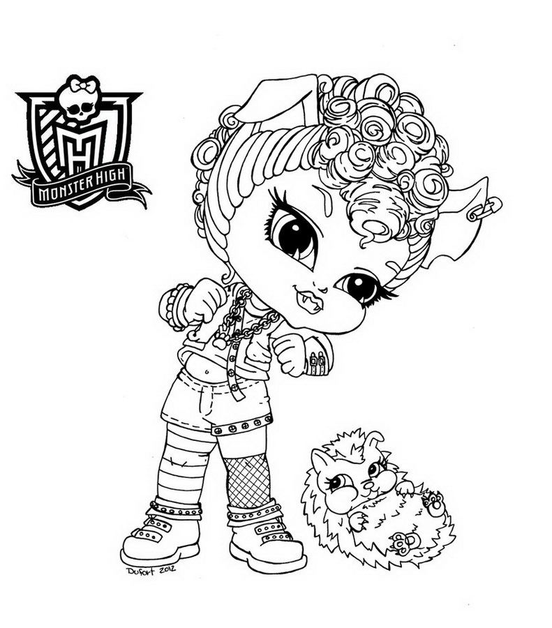 coloriage de monsterhighbaby