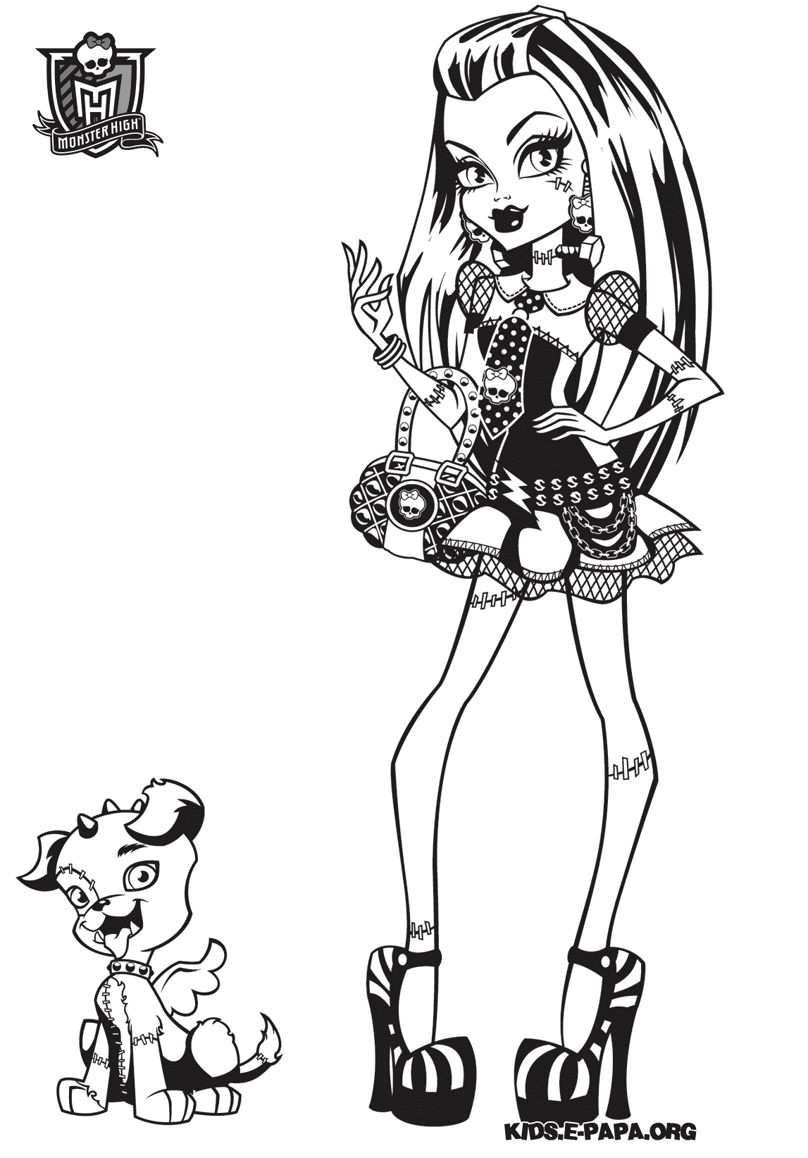 Dessin de Monster High Baby   imprimer