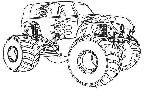 coloriage monster truck les beaux dessins de transport imprimer et colorier. Black Bedroom Furniture Sets. Home Design Ideas