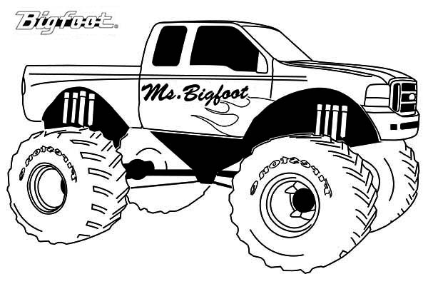 Coloriage Monster Truck Les Beaux Dessins Transport