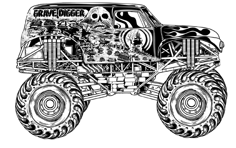 coloriage de monstertruck