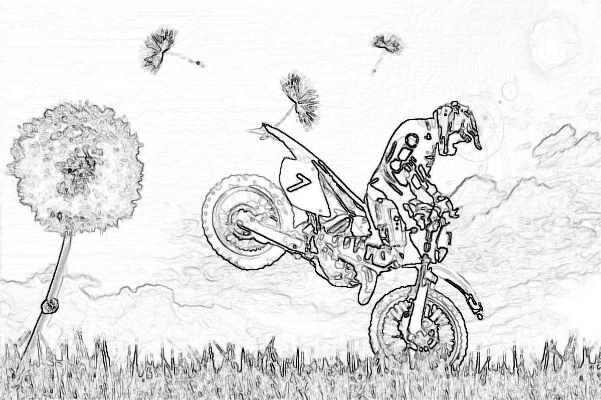 Coloriage motocyclette les beaux dessins de transport - Dessin de quad ...