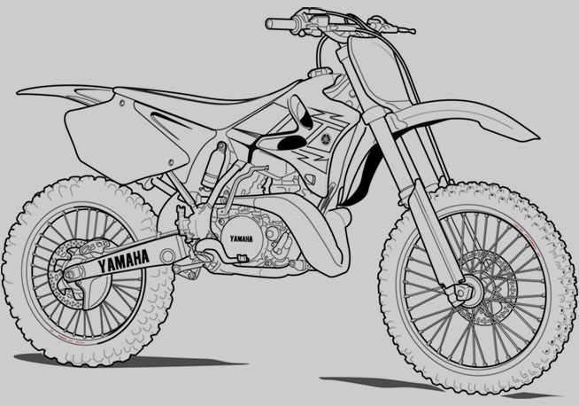 Coloriage motocyclette les beaux dessins de transport - Moto cross dessin ...
