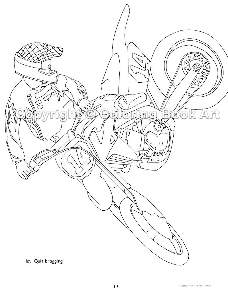 Coloriage Motocross Les Beaux Dessins De Transport à