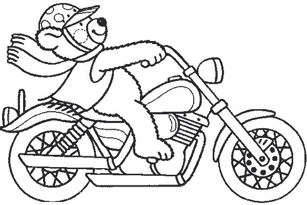 Coloriage moto enfant les beaux dessins de transport - Moto cross dessin ...