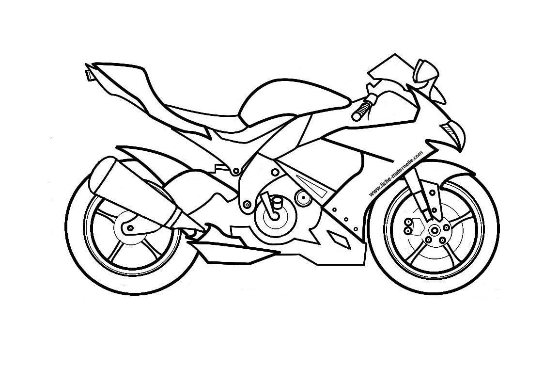 coloriage de motos
