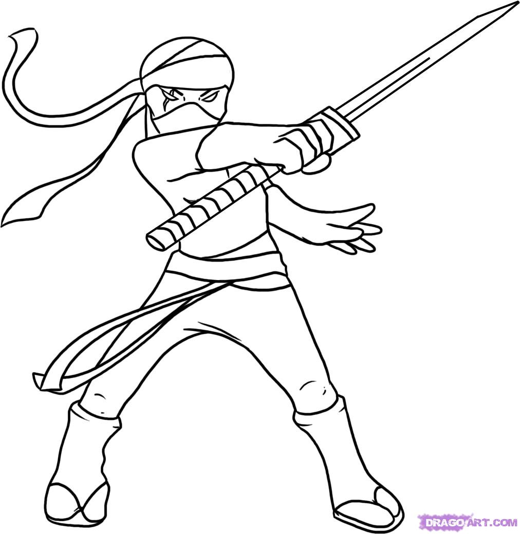 easy tmnt coloring pages - photo#17