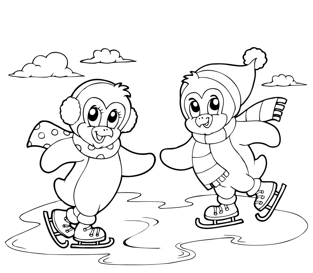 Dessin de Patinage   imprimer · coloriage de patinage