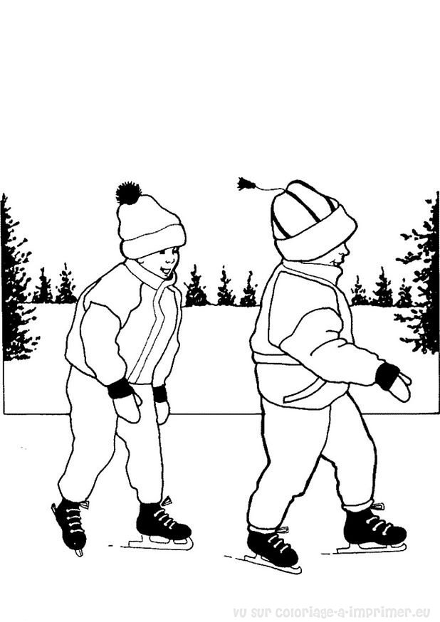coloriage de patinage