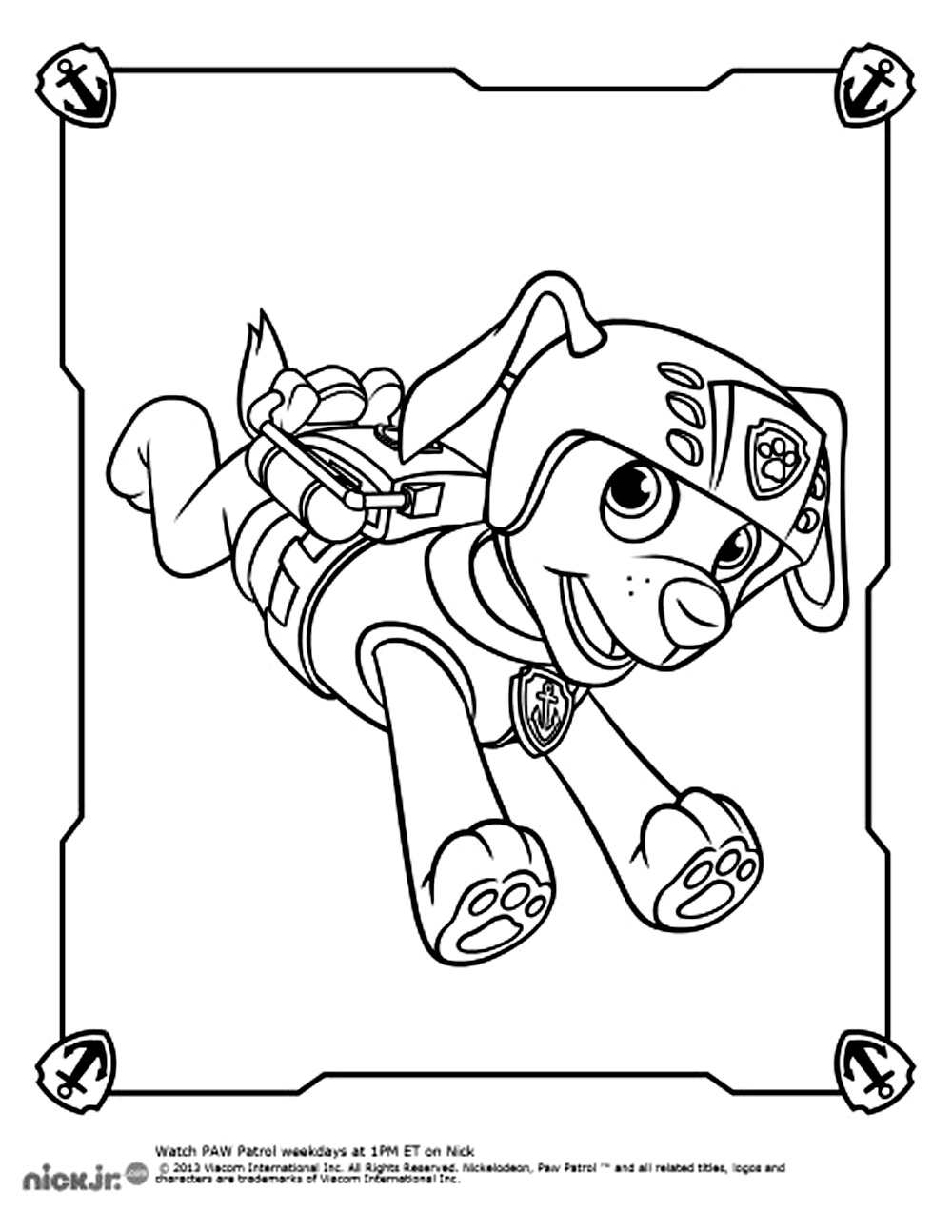 Colouring Pages Paw Patrol Everest Carrere Coloring Mewarnai Site