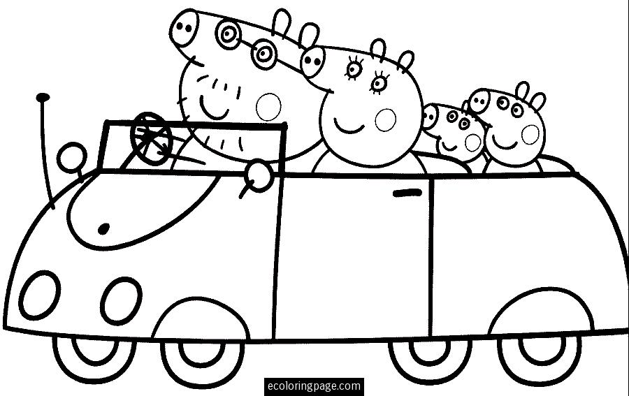 coloriage de peppapig