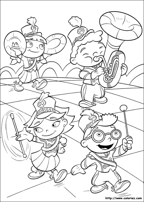 marching band coloring pages abstract - photo#17