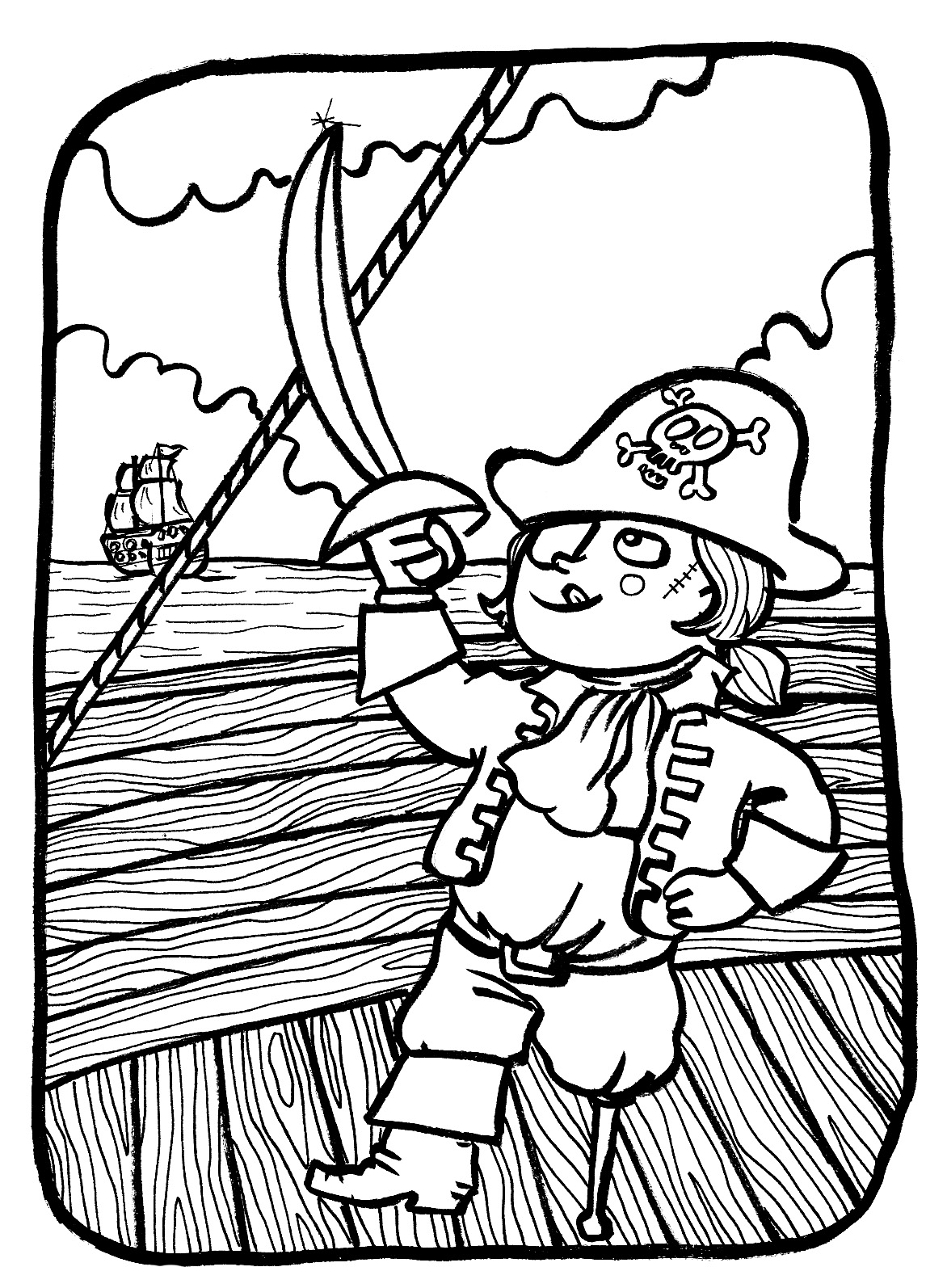 Dessin de Pirate 413   imprimer
