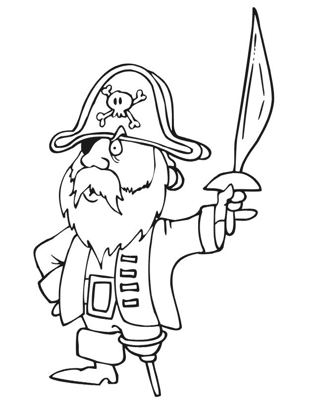 Coloriage pirates les beaux dessins de personnages - Coloriage jack le pirate ...