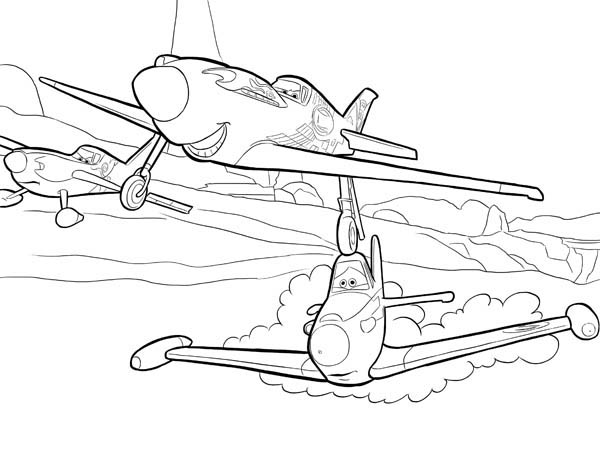 Fire dusty coloring pages