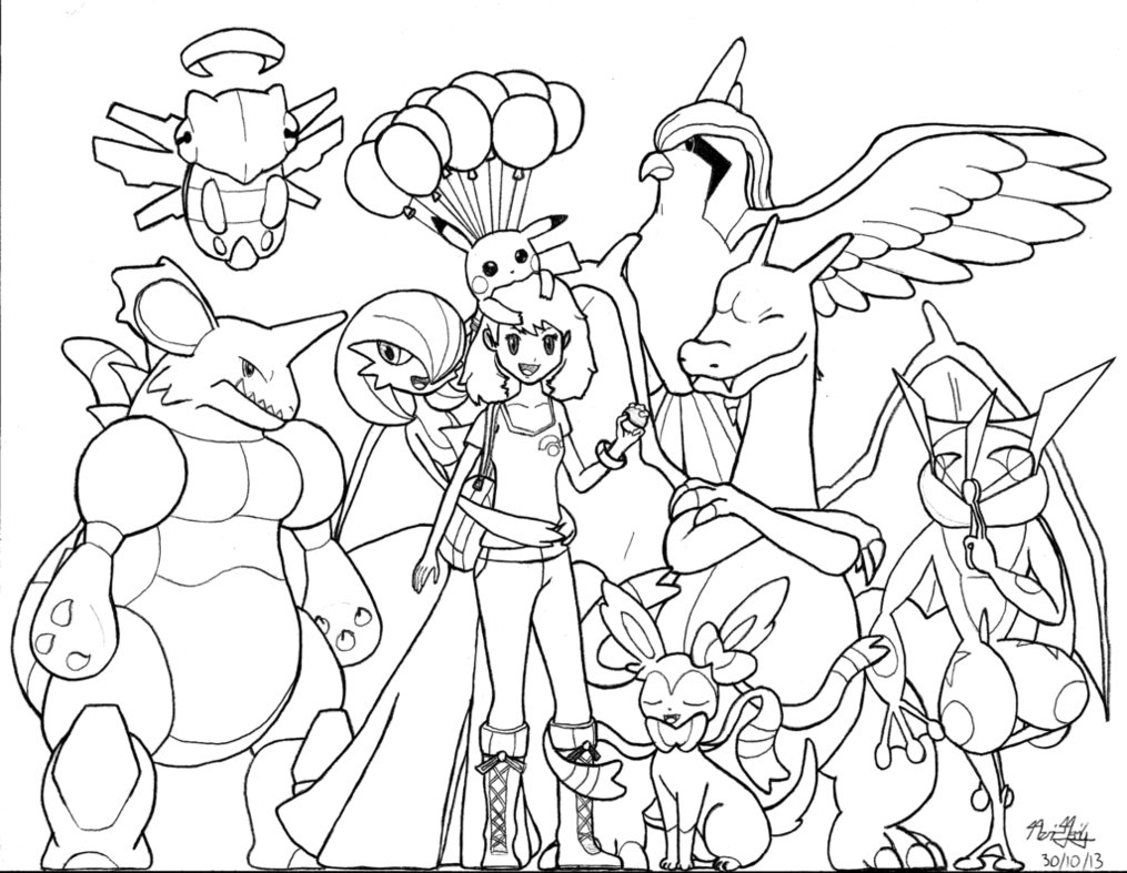 coloriage de pokemonex