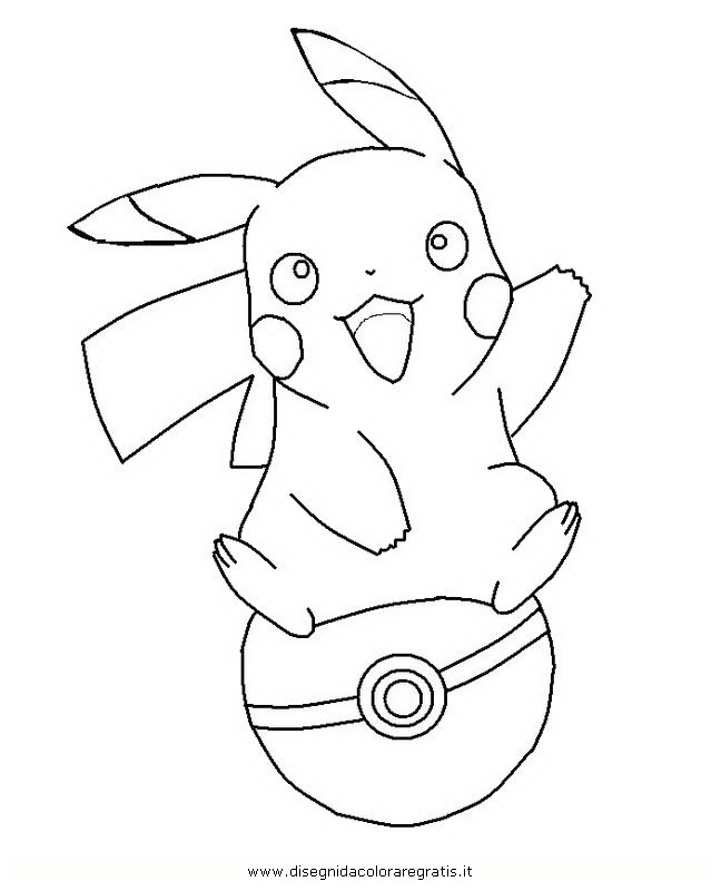 pikachu in action coloring pages - photo#2