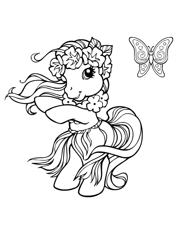 coloriage de poney