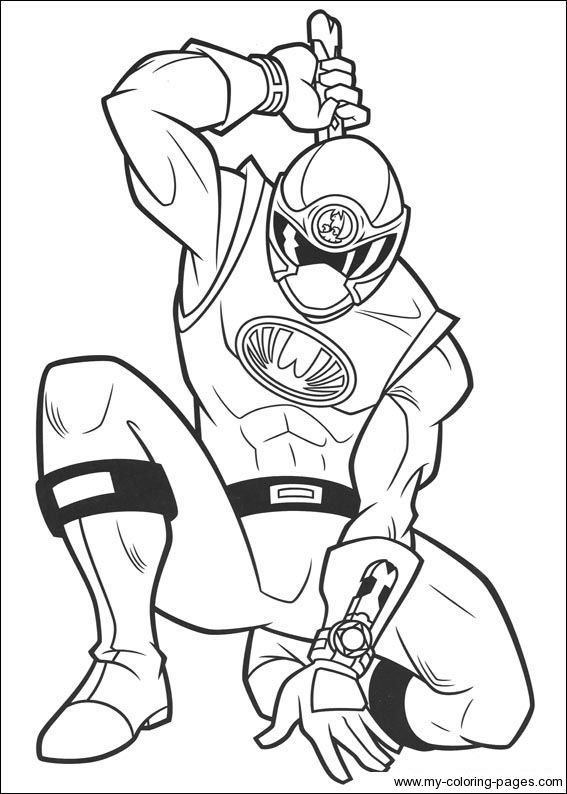 coloriage de powerrangers