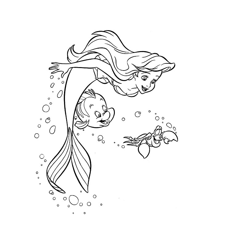 Coloriage Princesse Ariel Les Beaux Dessins De Disney 224