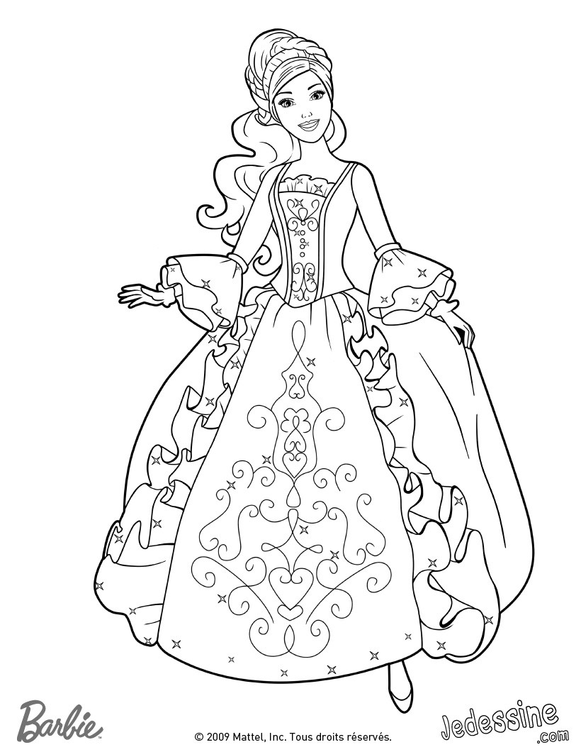 coloriage de princessebarbie