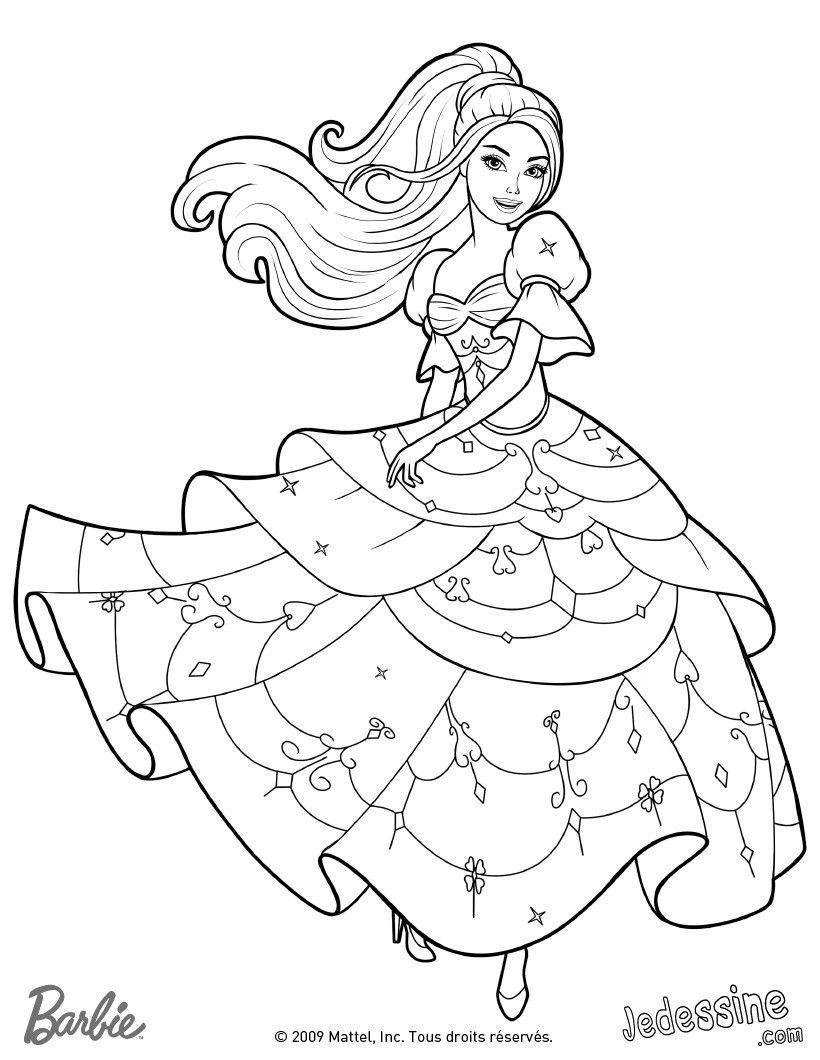 Coloriage princesse barbie les beaux dessins de - Barbie princesse coloriage ...