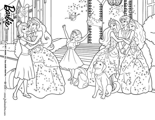 Coloriage princesse barbie les beaux dessins de - Barbie a colorier ...