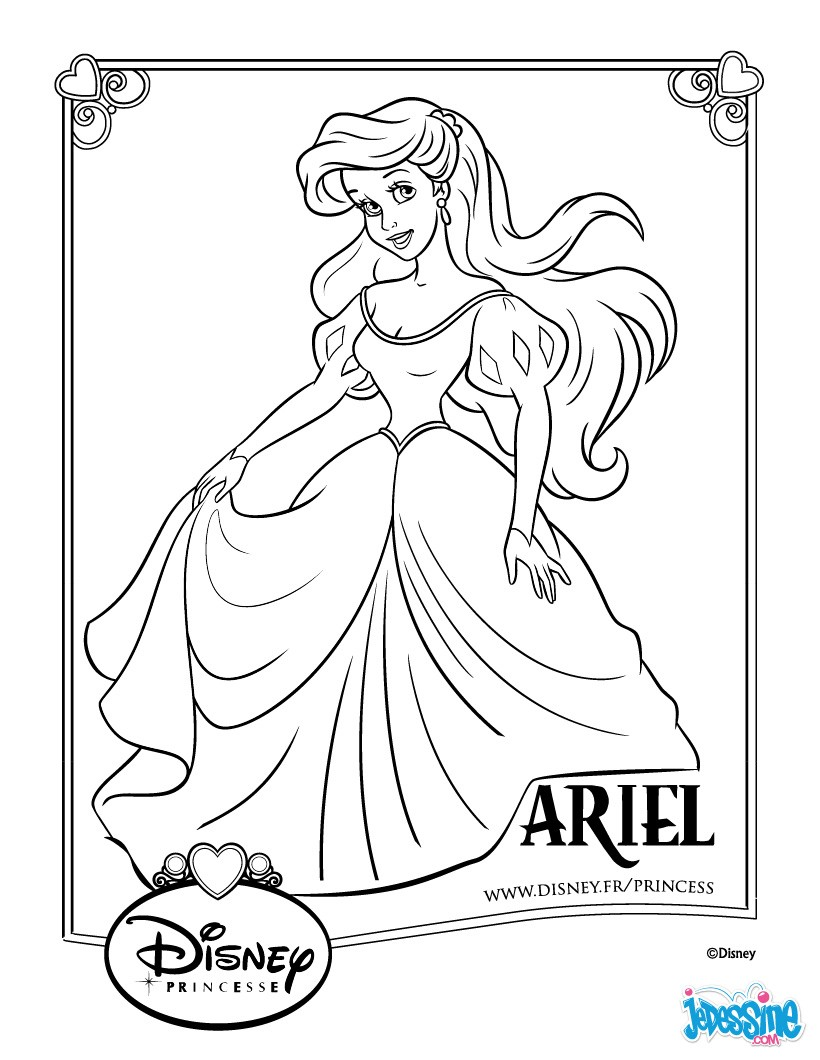 Coloriage princesse disney ariel les beaux dessins de for Puzzle a colorier gratuit