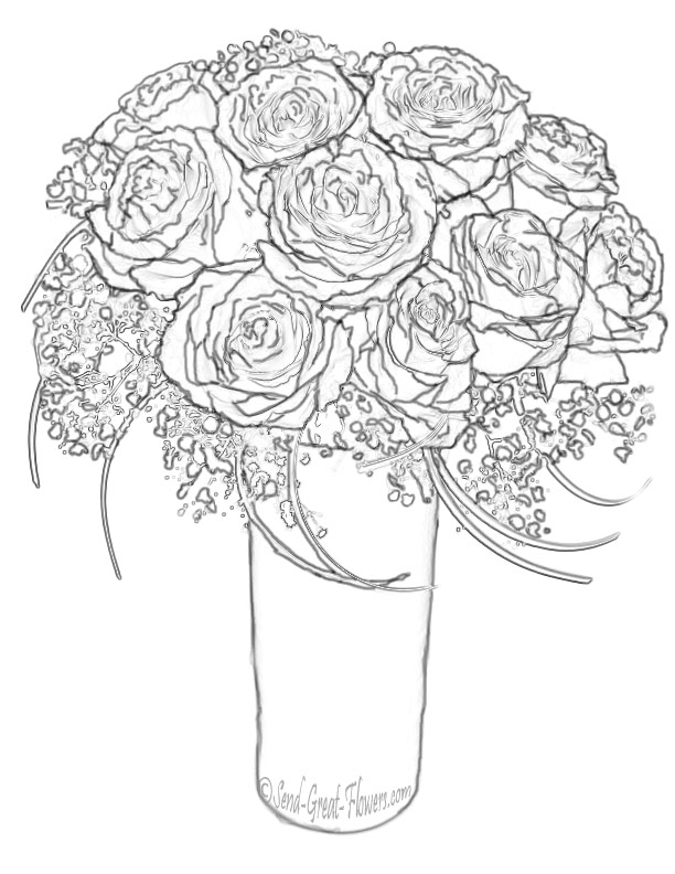 girls planting flowers coloring pages - photo#46