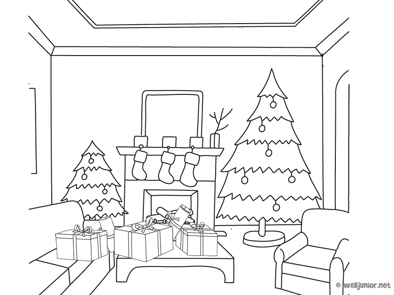 coloriage salon les beaux dessins de autres imprimer. Black Bedroom Furniture Sets. Home Design Ideas