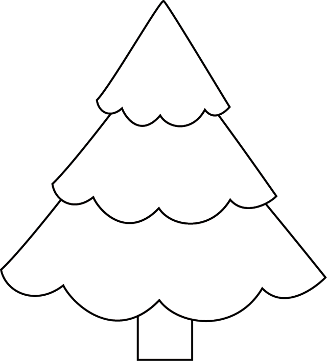 Coloriage De Sapin De Noel Simple Ecio2010
