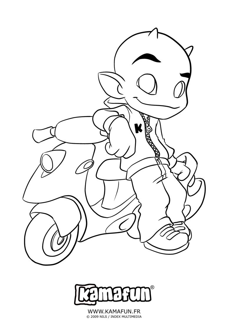 coloriage de scooter