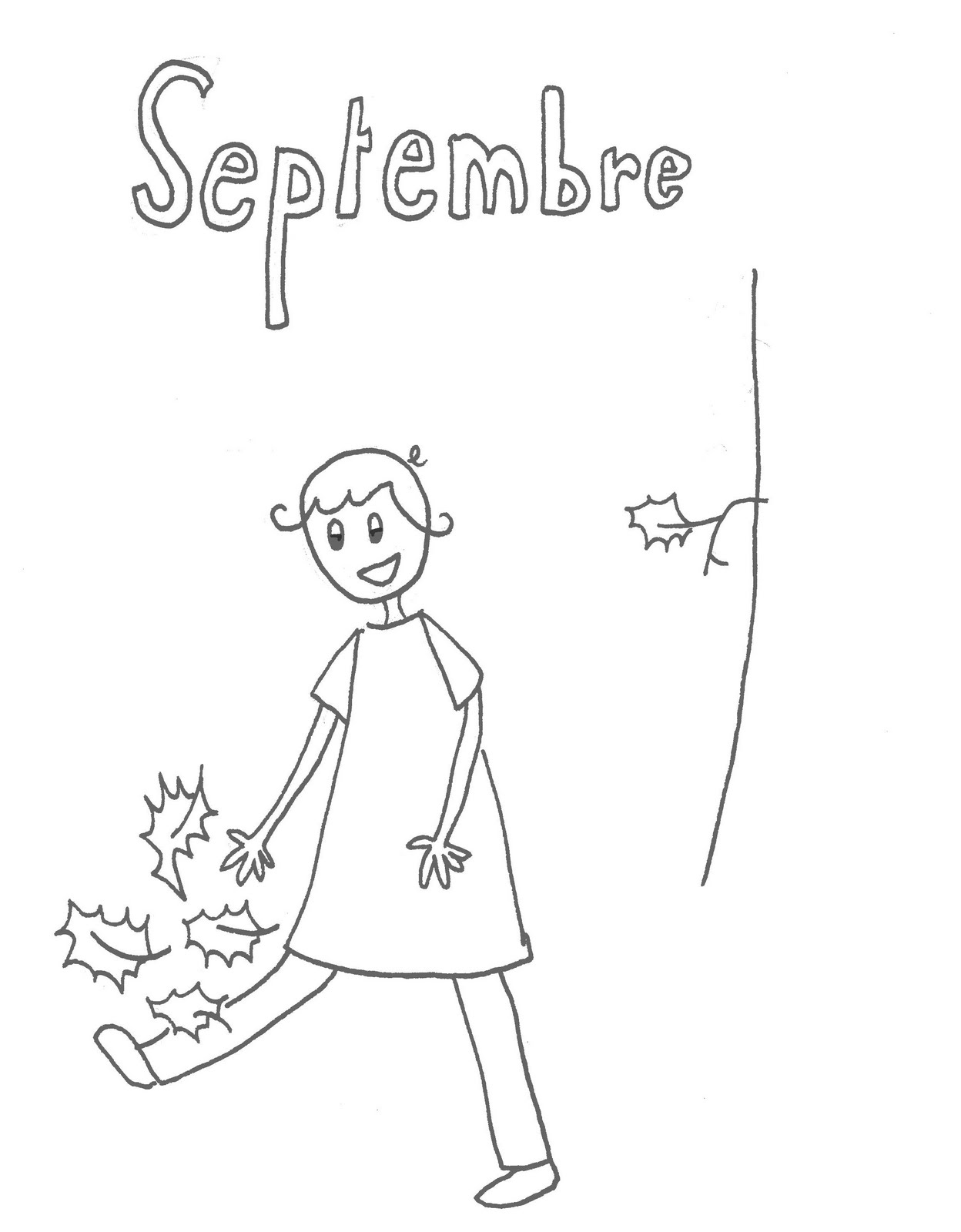 coloriage de septembre
