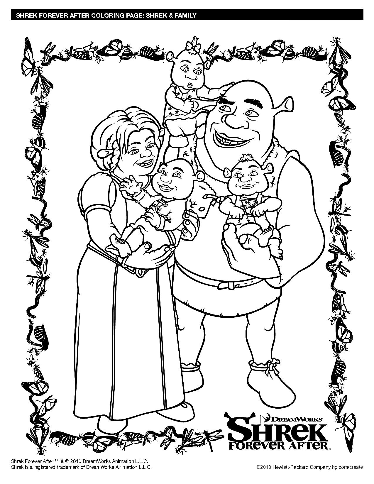coloriage de shrek