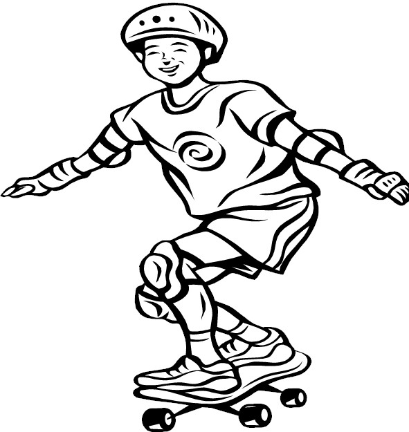 coloriage de skateboard
