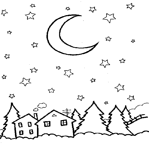 good night kids coloring pages - photo#33
