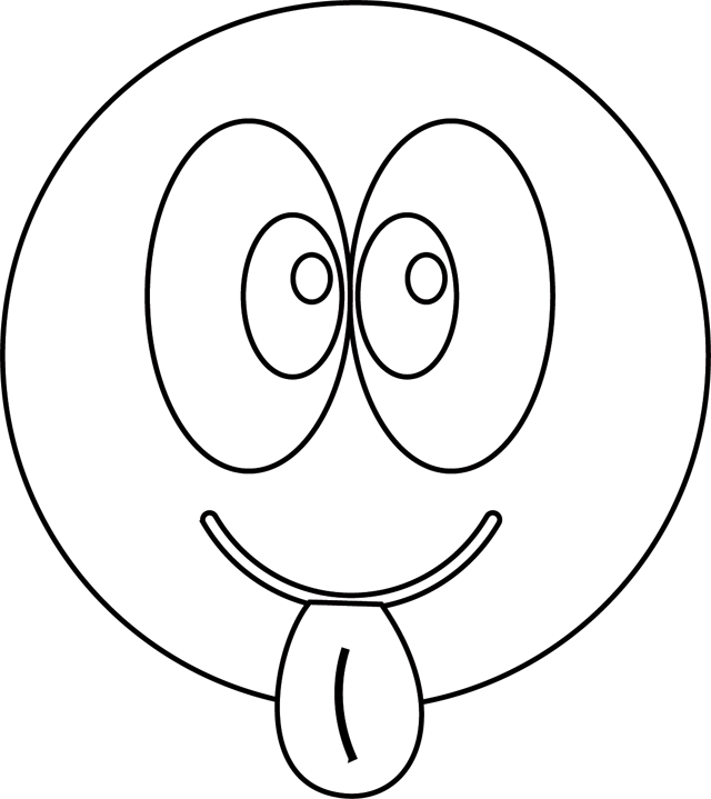 coloriage de smiley