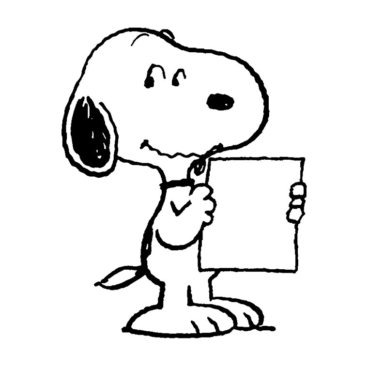 coloriage de snoopy