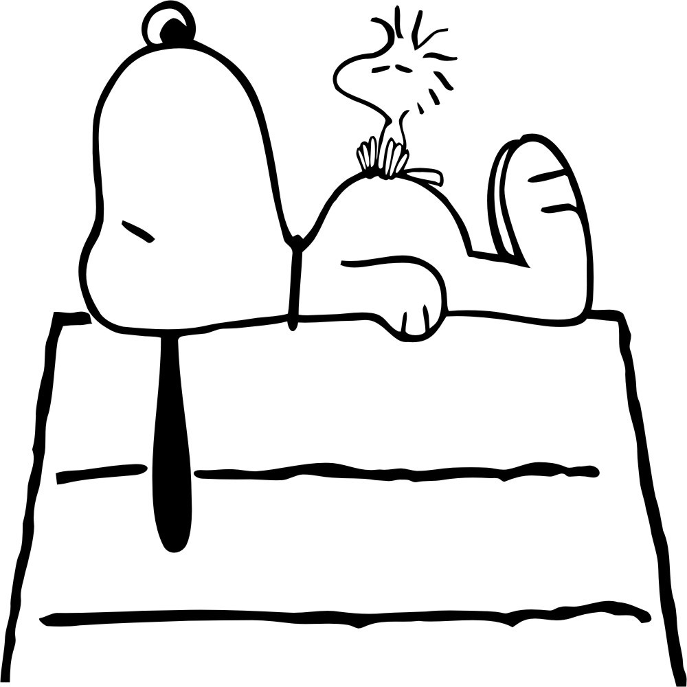 Coloriage snoopy les beaux dessins de meilleurs dessins for Snoopy coloring page