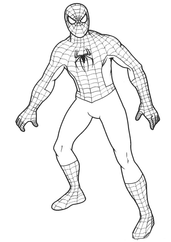 Coloriage spiderman les beaux dessins de super h ros - Dessin spiderman facile ...