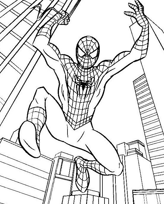 coloriage de spidermanfacile