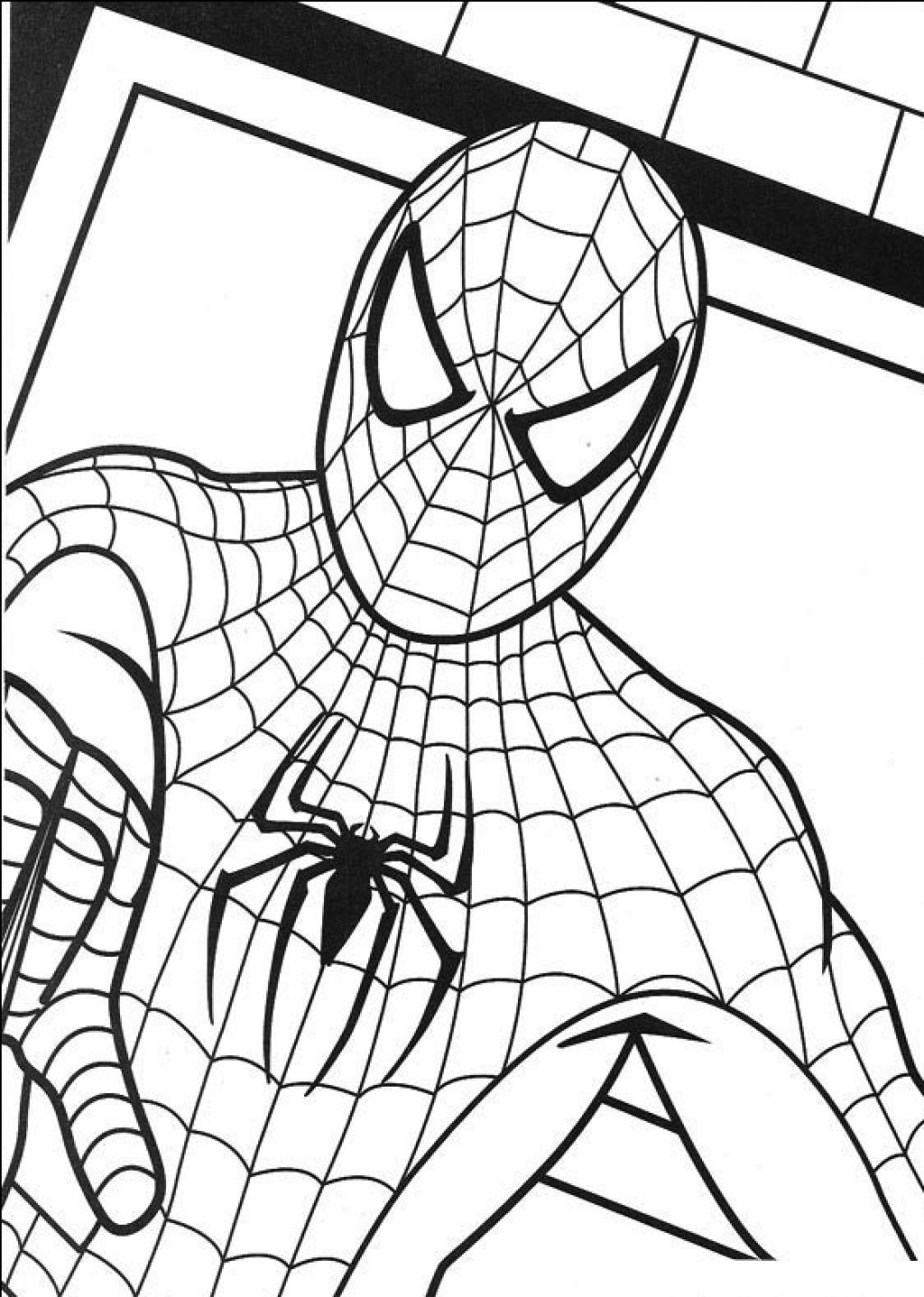 Coloriage spiderman facile les beaux dessins de - Dessin spiderman facile ...