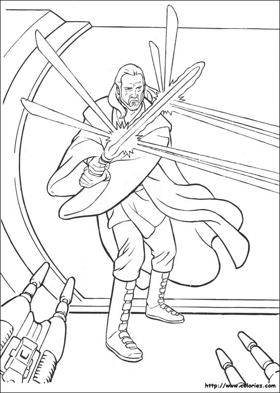 coloriage de starwars