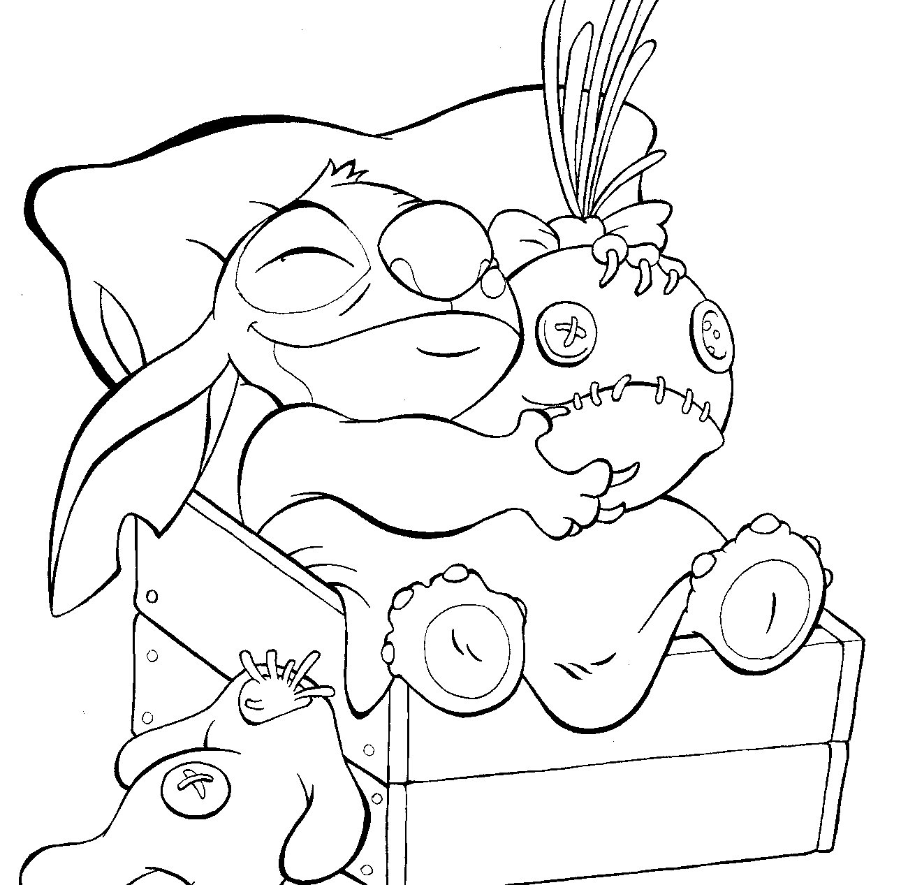 coloriage de stitch